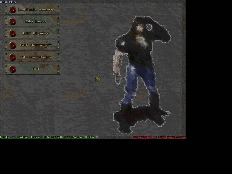 Beta 3 Editor - Main menu
