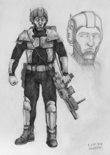 Policeman concept art