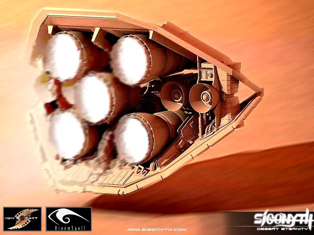 Wallpaper - Flying Spaceship