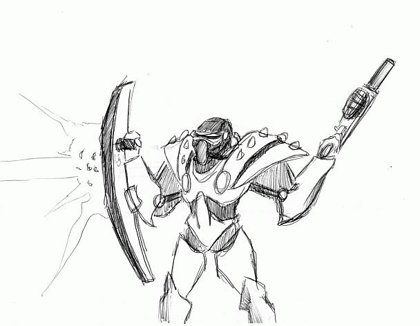 Shield Enforcer Concept Art