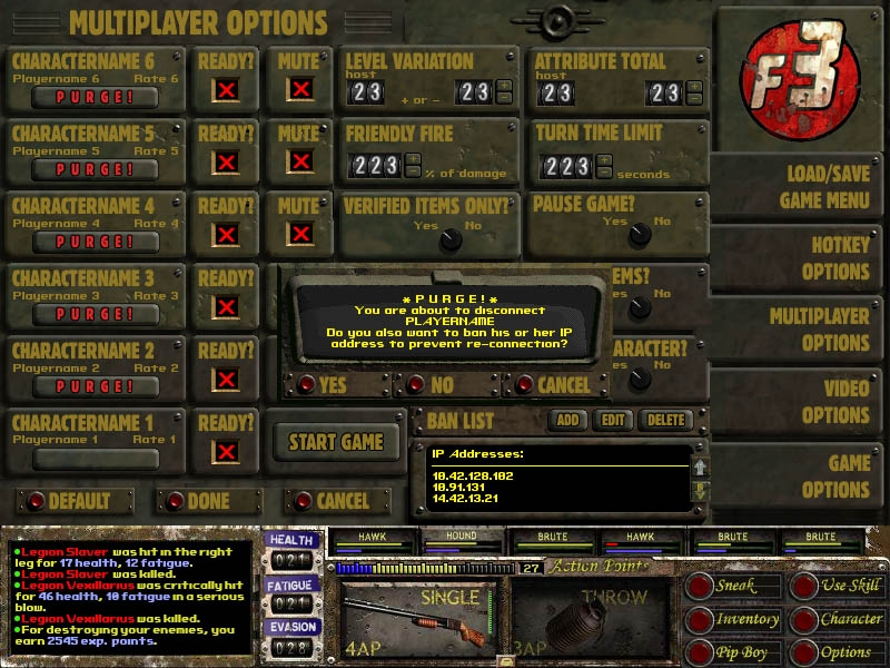 Fallout 3 Multiplayer Menu