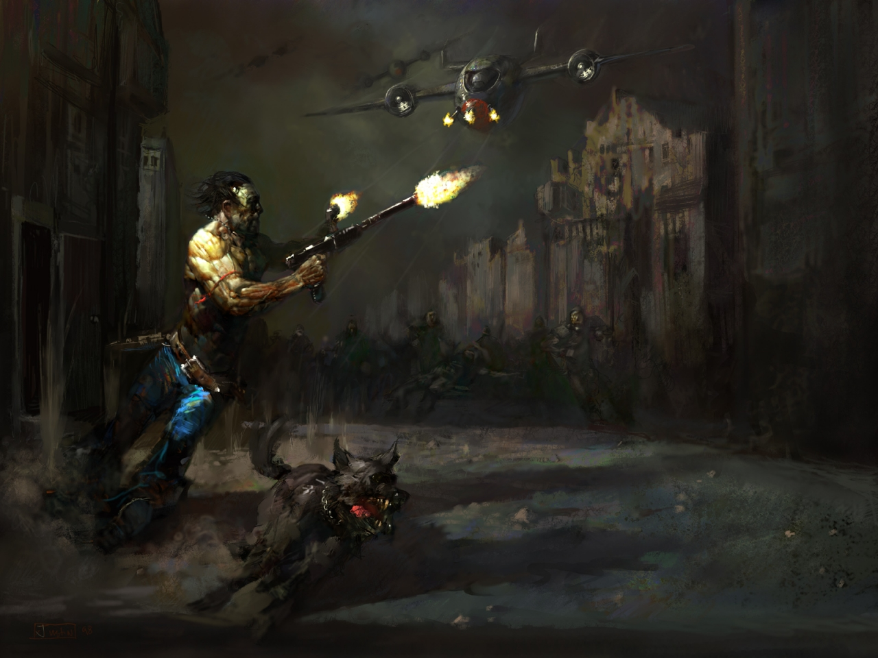 Vault Dweller and his Dogmeat