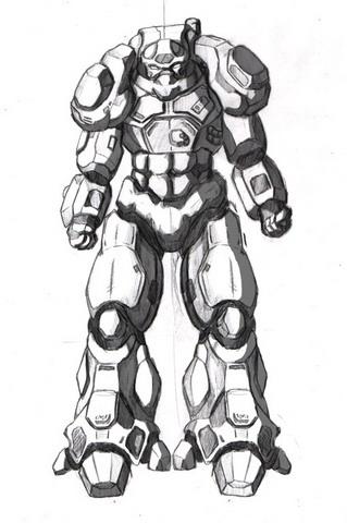 Outcome Concept Art - Marine Armour