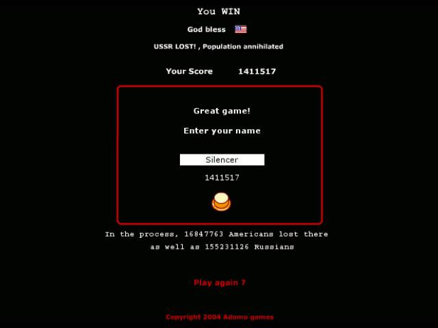 My Wargames1983 score