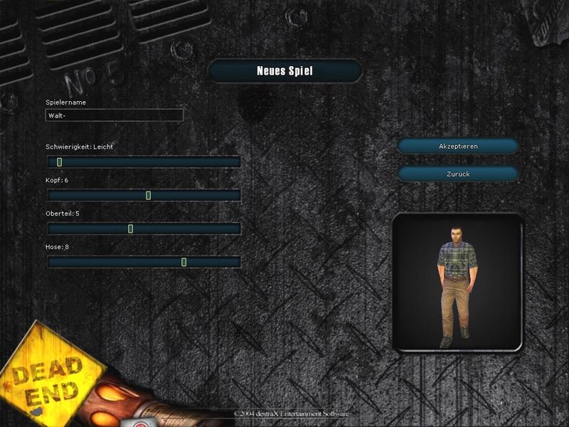 Ground Zero Genesis... character creation screen