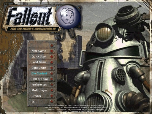 Fallout: RoC Title screen