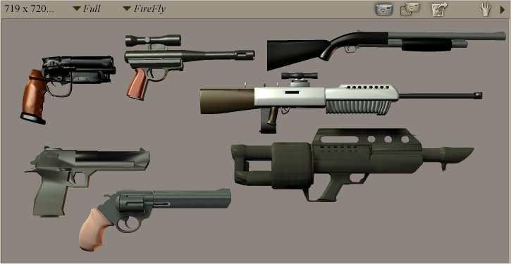 Weapons used in Wasteworld