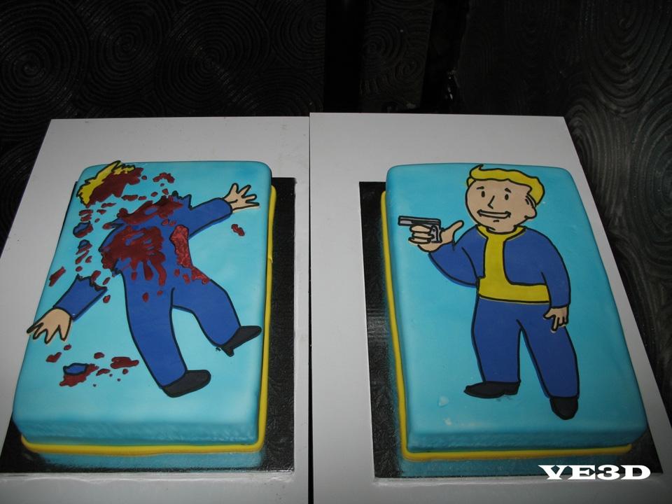Vault Boy Cake