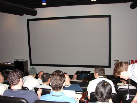 Auditorium for press event