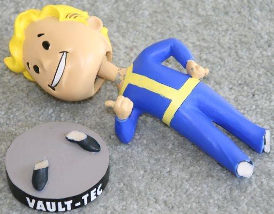 Broken Vault Boy Bobblehead