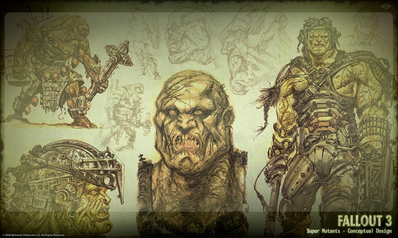 Super Mutants concept art