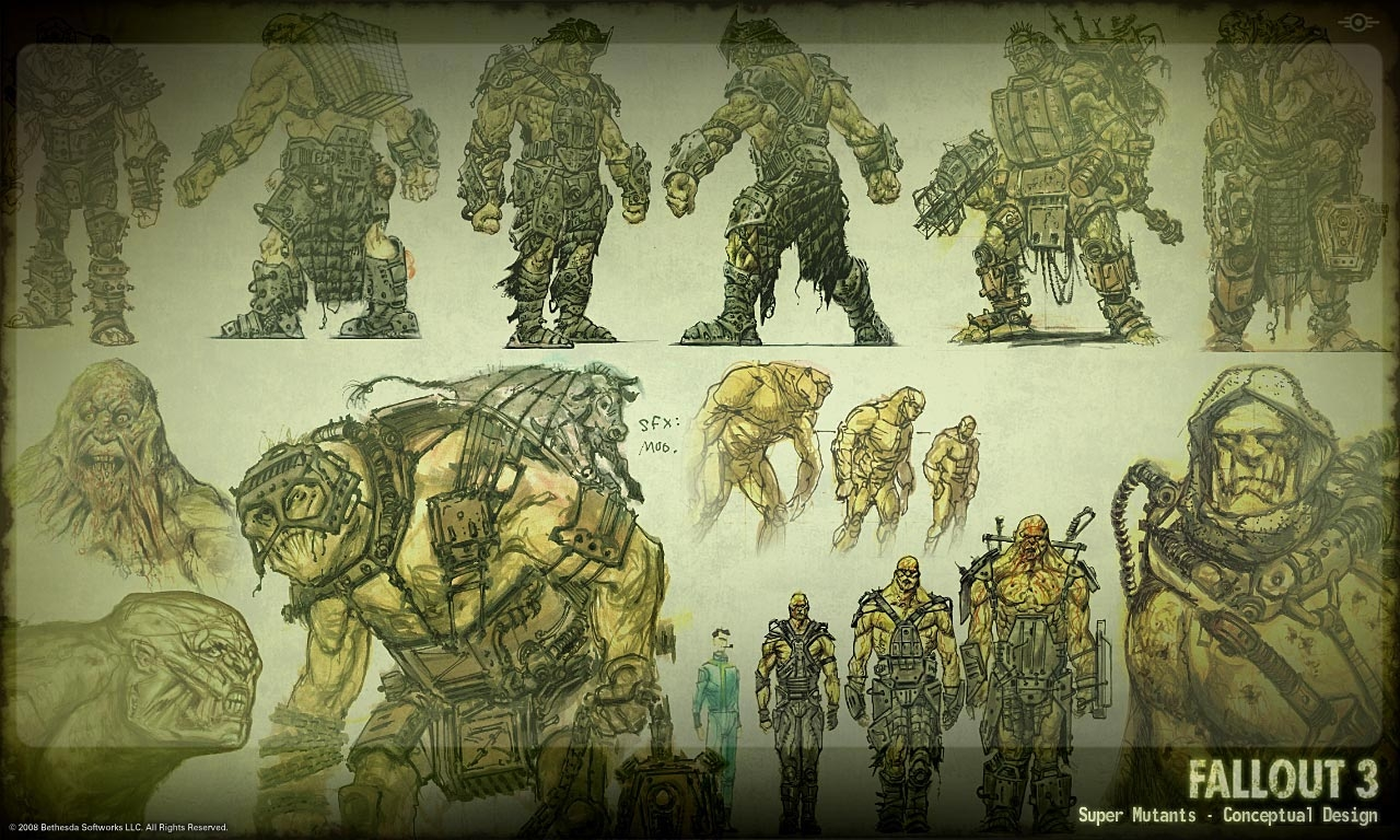 Super Mutants concept art