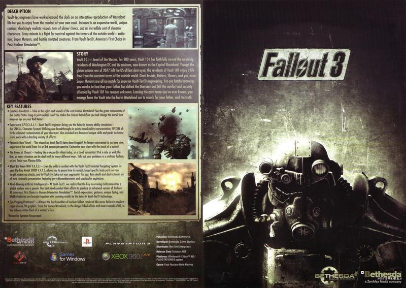 Fallout 3 brochure