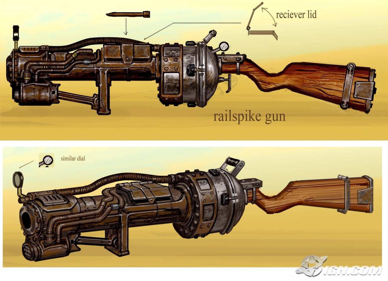 Railspike gun concept art