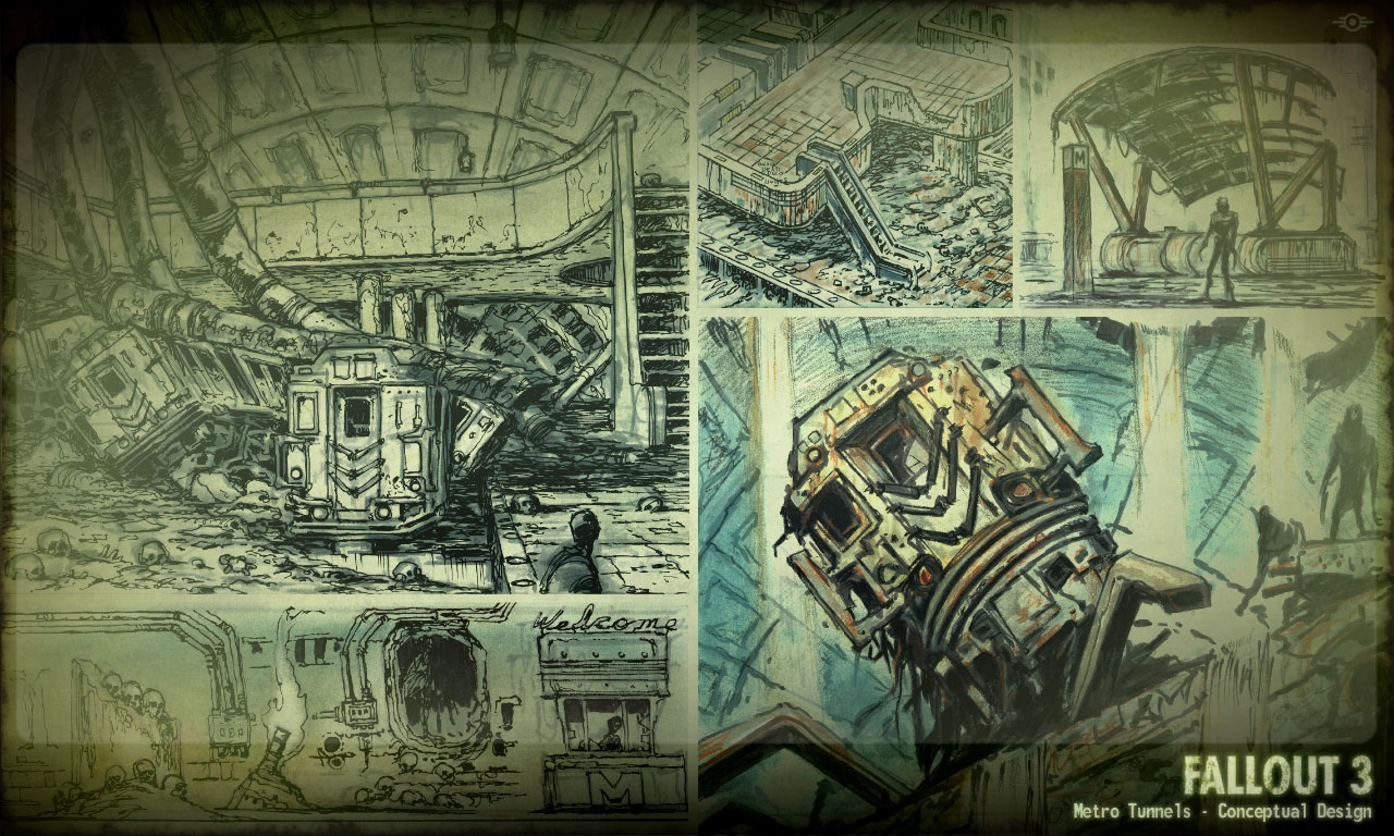 Level design concept art