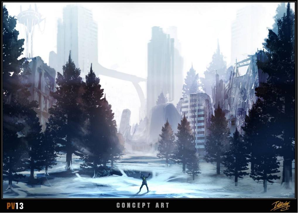Project V13 Concept Art - Snow City