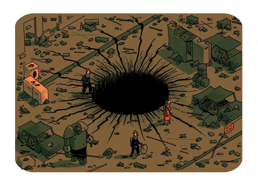 A big hole