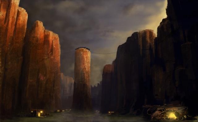 Bandit town Vol. 3 – bottom of the canyon at dusk