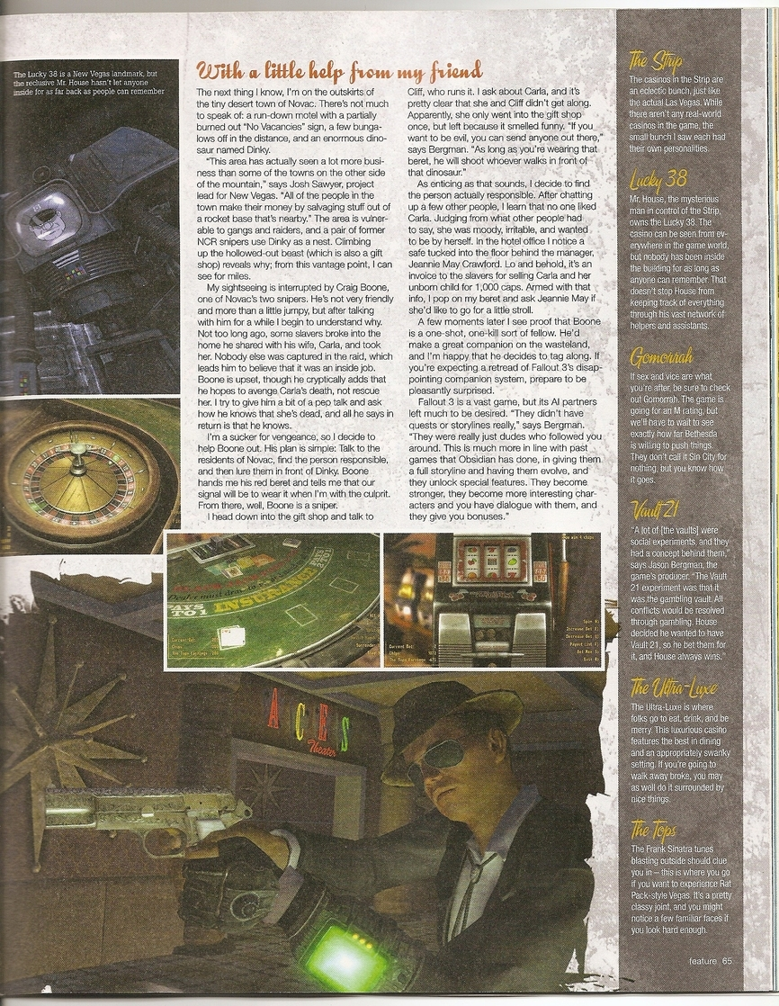 Game Informer Fallout: New Vegas preview