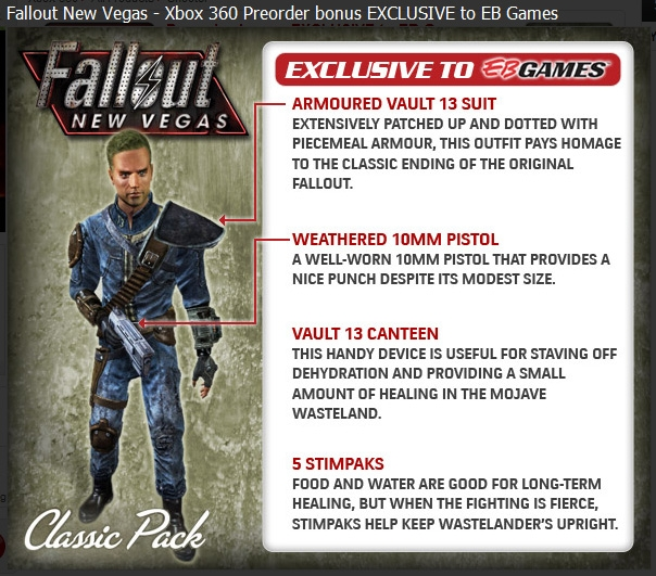 Fallout New Vegas Classic Pack