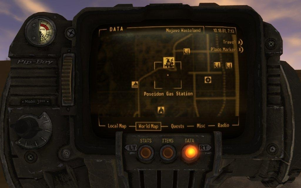 Fallout Las Vegas Map.Photo Fallout New Vegas Pip Boy Map In The Album Screenshots By