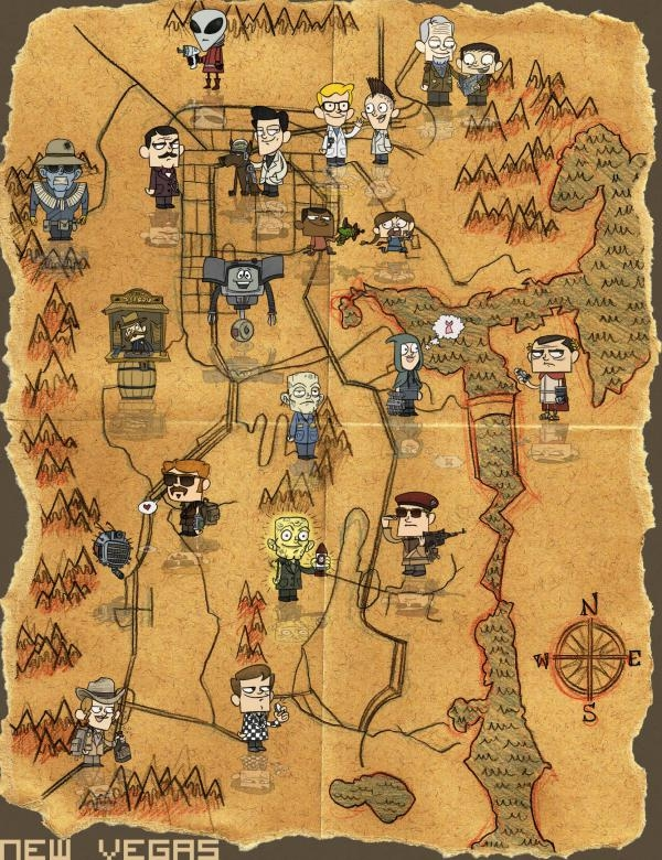 Photo New Vegas World Map In The Album Fan Art By Brother None