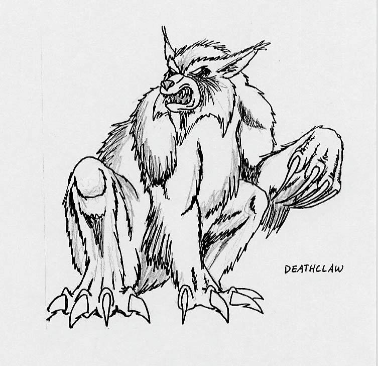 Early deathclaw design