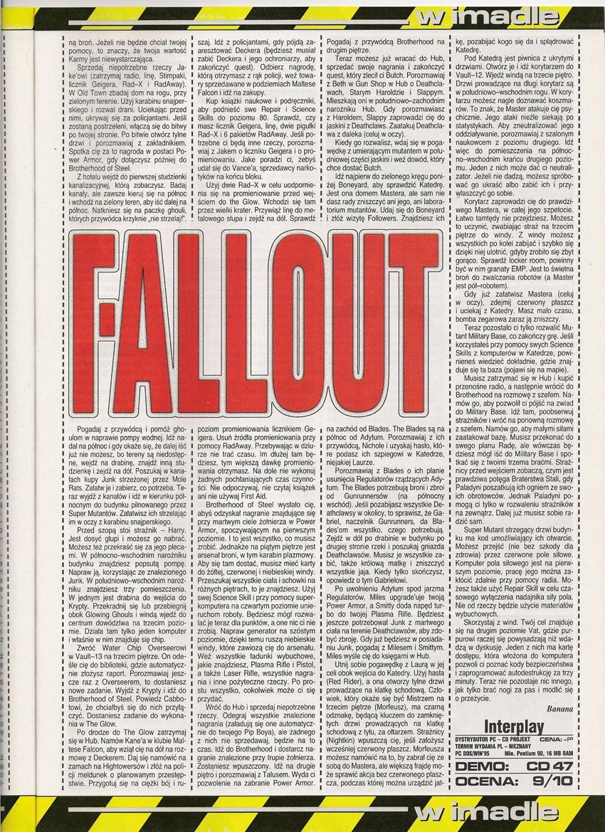 Secret Service Fallout walkthrough PL (1997)