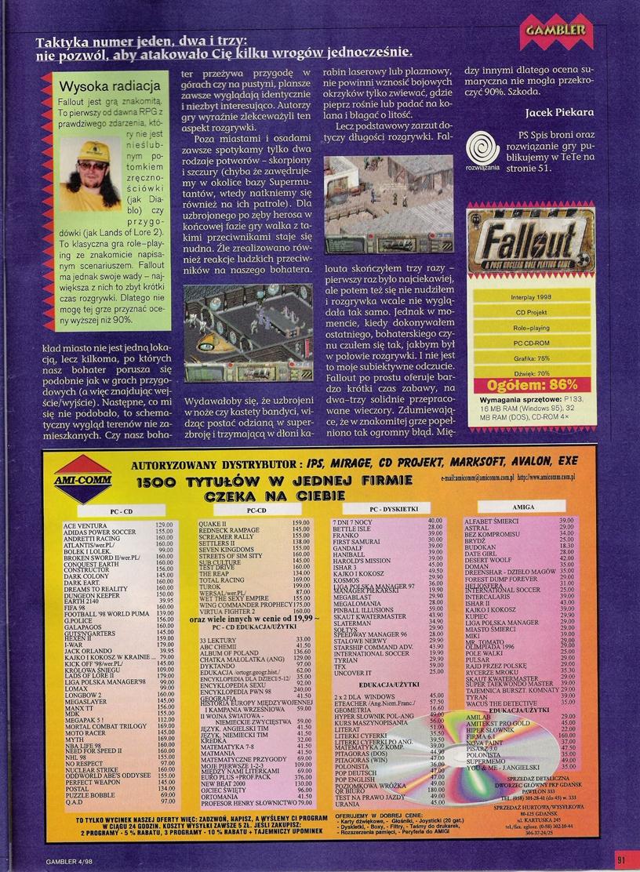 Gambler Fallout walkthrough PL (1997)