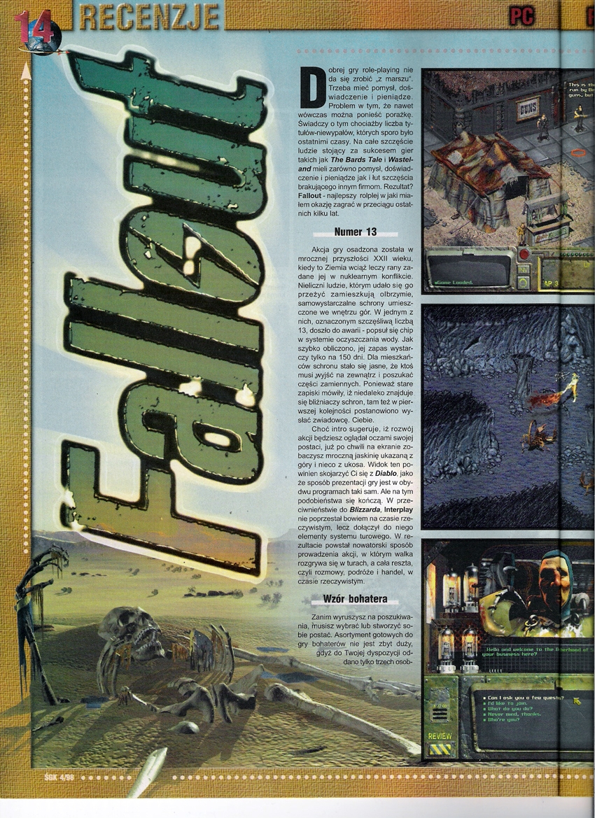 Świat Gier Komputerowych Fallout cover PL (1997)