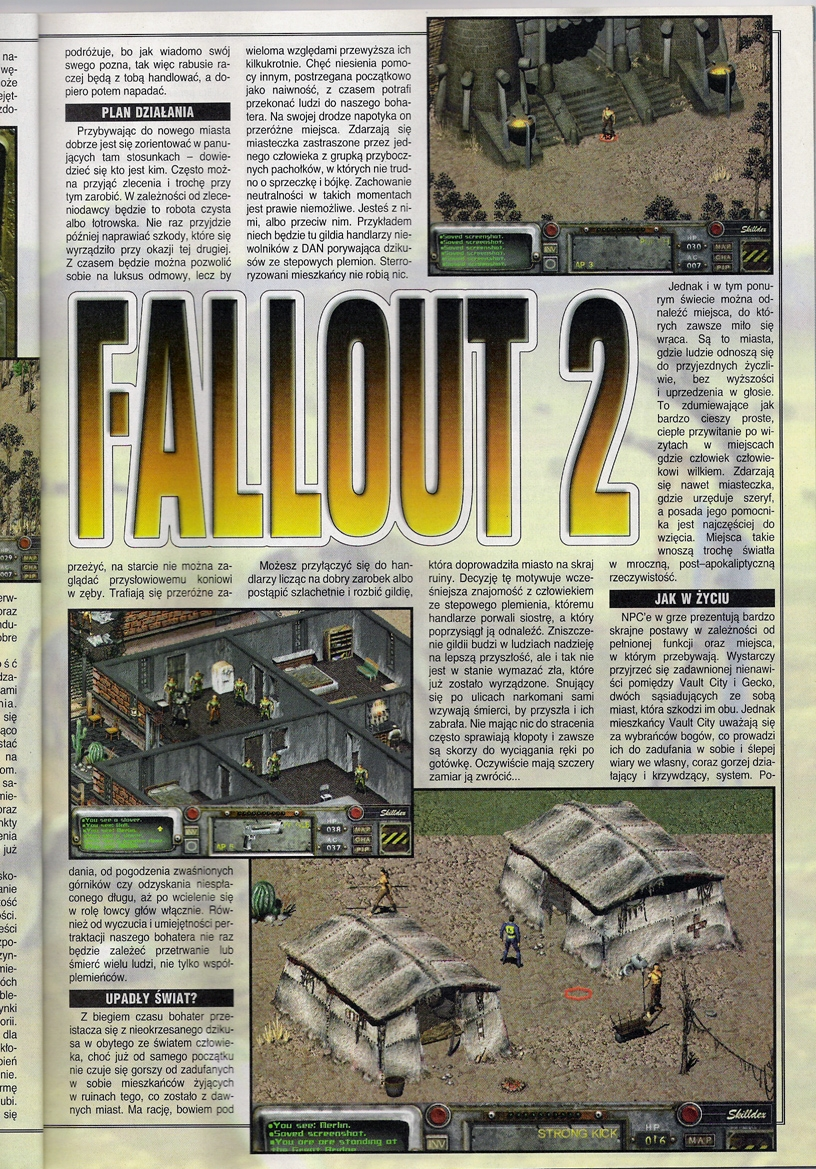 Secret Service Fallout 2 review PL (1998)