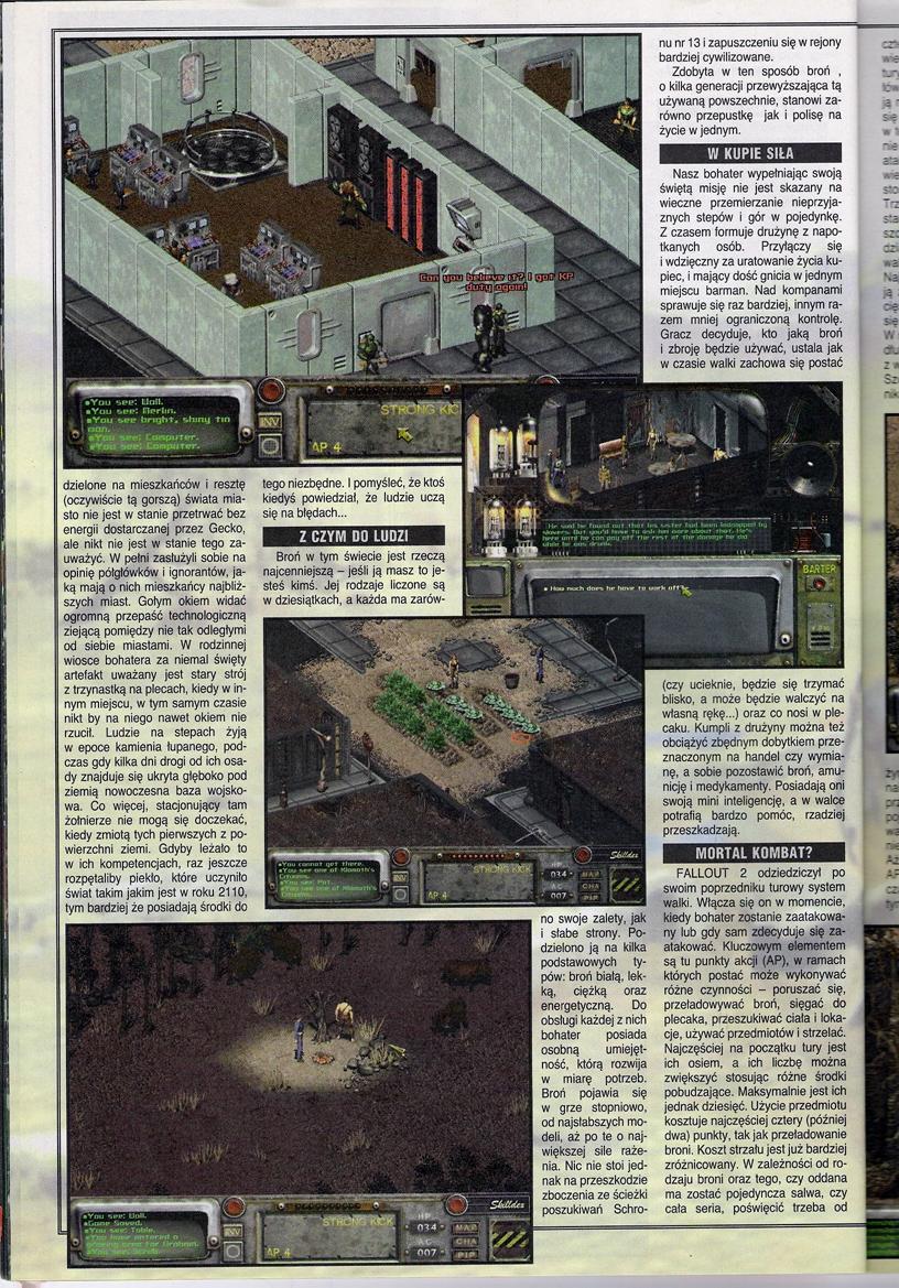 Secret Service Fallout 2 review PL (1998)