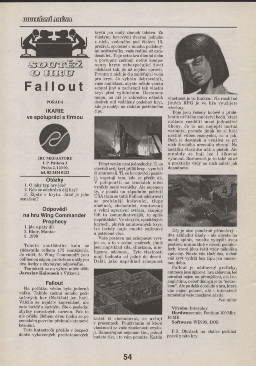 Ikarie Fallout review (1998) CZ