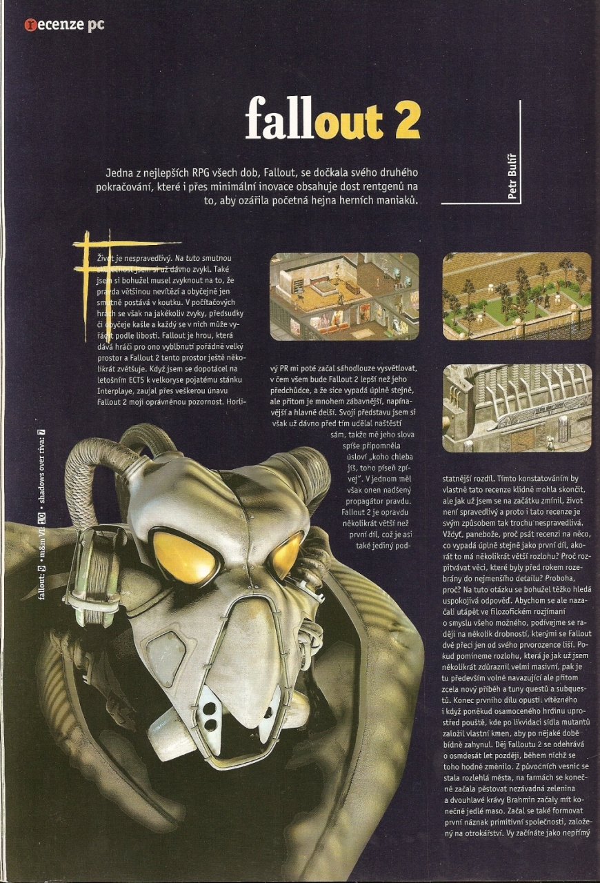 Level Fallout 2 review CZ