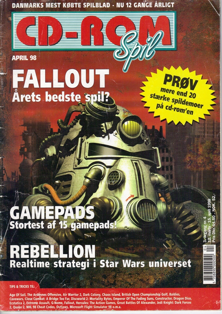 CD-ROM Spil Fallout Review (1998) DN