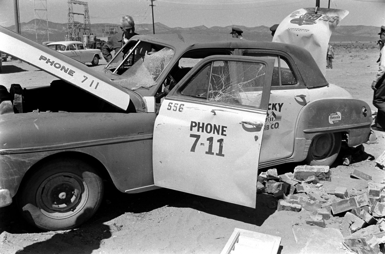 Loomis Dean photos taken after Yucca Flats nuclear test