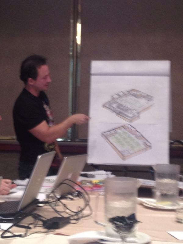 """""""chrisavellone taking us through one of his Wasteland maps."""" - Br"""
