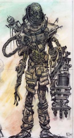 photo fallout 3 concept art in the album scorched earth by